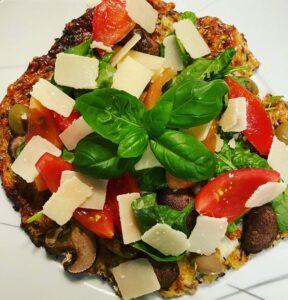 Ketogene Pizza ohne Gluten und Kohlenhydrate für die ketogene Ernährung